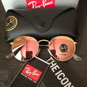 Ray Bans Round Metal Rose Gold RB3447